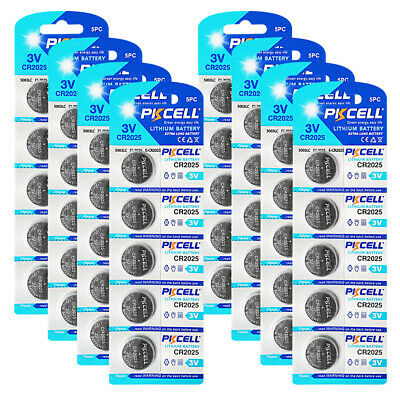 50x CR2025 2025 DL2025 BR2025 3V Lithium Watch Button Coins Cell Battery PKCELL