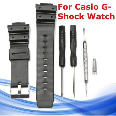 Silicone Watch Band Strap & PINS Tool Replacement For Casio G-Shock Watch 25mm