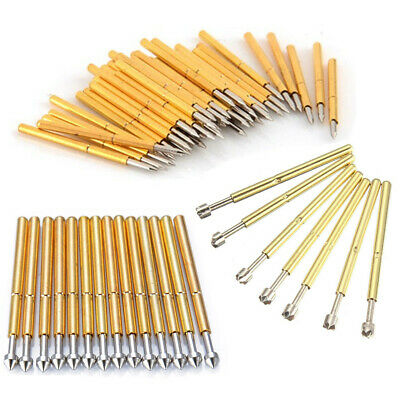 100 pcs P75-B1/P75-LM2/P75-E2 Spear Spring Loaded Test Probe Round Pogo Pin 3A