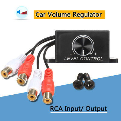 Car Audio Subwoofer Amplifier Bass RCA Gain Level Remote Volume Control Knob