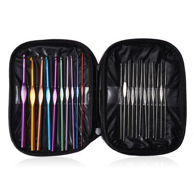 18 Set Double Pointed 36Pcs Smooth Bamboo Circular Knitting Needles Size 2-10mm