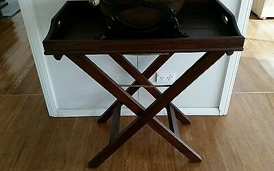 Georgian Mahogany Butlers Tray with Stand