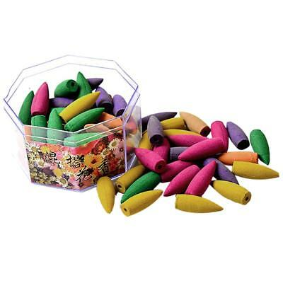 Pack of 70Pcs Smoke Tower Cones Bullet Backflow Incense Hollow Cone - Mixed