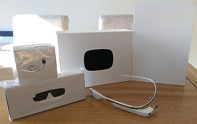 Google Glasses Cotton XE-C Version 3 2GB Mint Condition with 3 extras