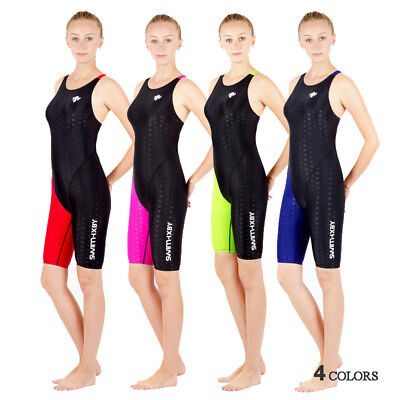 Racing Swimwear Women Girl One Piece Swimsuit Competition Sharkskin Suit 4Colors