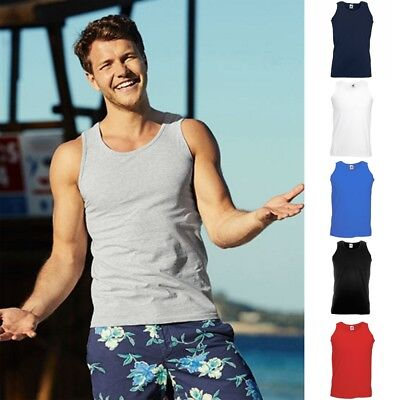 5x Fruit of the loom Trägershirt Athletic Vest Tank Top Herren T-Shirt S - 5XL