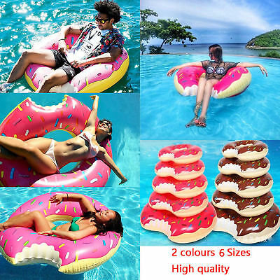 Pool Water Float Raft Inflatable Swim Ring Donut Swimming Raft