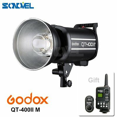 Godox QT-400II QT-400IIM 400W 2.4G High Speed Studio Strobe Flash Light 100-120V