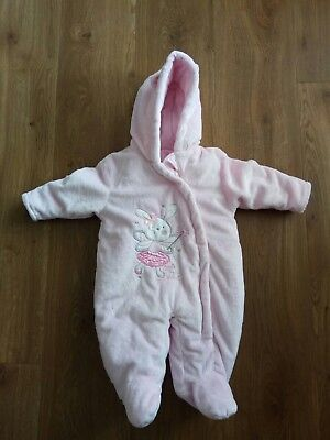 Baby girl pink winter overall 0-3 months