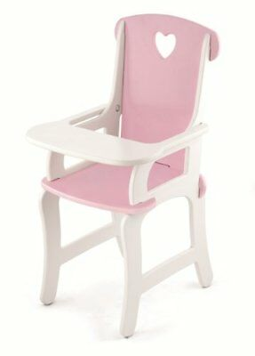 Viga Wooden Doll's High Chair in Pink and White #VG59512