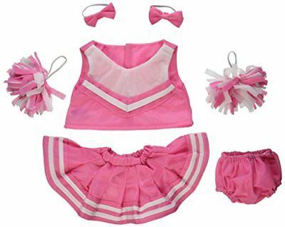 "Pink Cheerleader Outfit 16"" Teddy Bear Clothes Will Fit 15"" 16"" Build A Bear"