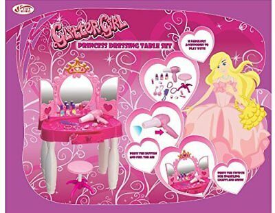 Girls Princess Style Dressing Table Play Set with Light & Sound Jewellery