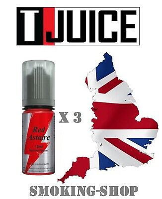 T JUICE - Red Astaire - lot 3 x 10 ml - 12 mg