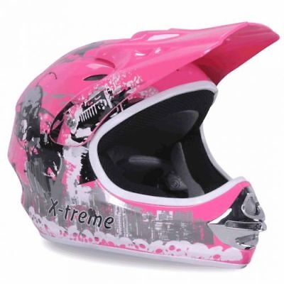 Kinder Crosshelm X-treme Cross Helm Kinderhelm Motorradhelm Quadhelm pink