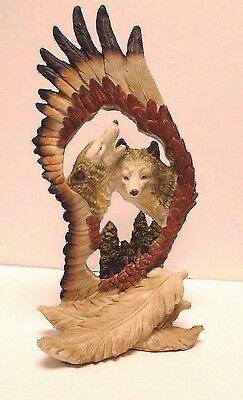 "Wolves  In A Feather  Figurine *10 1/4"" Tall"