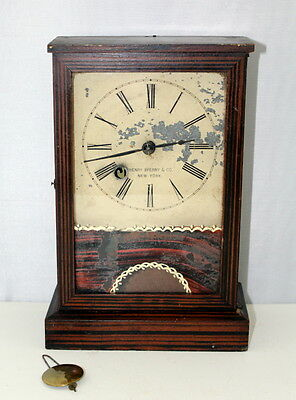 Rare Antique Henry Sperry Shelf Cottage Clock.  C1855
