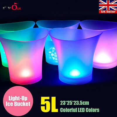 Multi Colour Changing 5L LED ICE BUCKET Champagne Wine Part Christmas Restraunt
