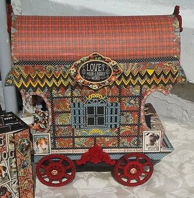 Gypsy caravan model & Mini Album featuring Graphic 45 Cats & Dogs papers