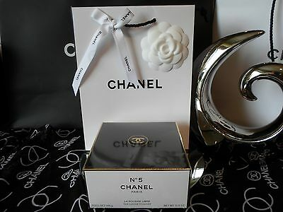Original Chanel N°5 loser Körperpuder / After Bath 145g Talg & Tüte m. Kamelie N