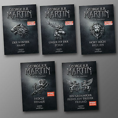George R.R. Martin | GAME OF THRONES Band 1 - 5 Komplett Sonderausgabe