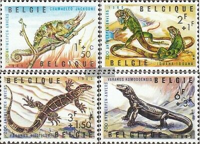 Belgium 1401-1404 (complete.issue.) unmounted mint / never hinged 1965 Reptiles