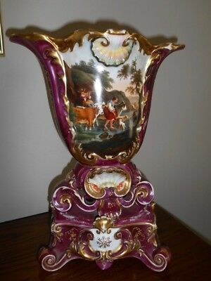 Antique French Porcelain Paris Vase / Urn