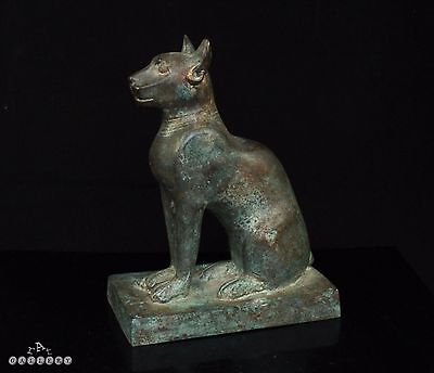 Antique Grand Tour Egyptian Bronze Cat c.1900