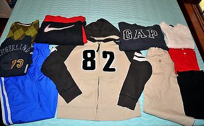 Boys Size 10 Back to School Pant & Shirt LOT, 10 Piece Nike Timberland Lands End