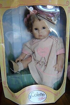"Zapf Creation Colette Lavendel doll. NIB. Approximately 19"" tall."