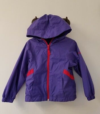 Girl's Columbia Hooded Jacket Purple 4T