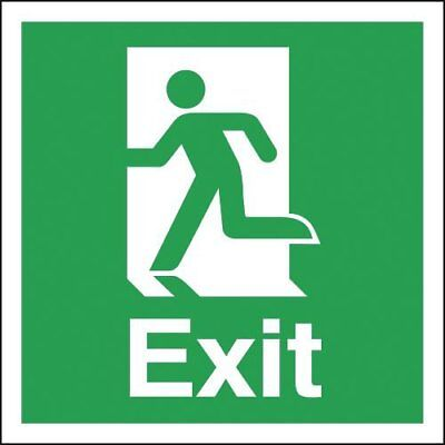 "Signs and Labels AMZFE025HRP ""Exit"" Safe Condition Safety Sign, Running Man 2 mm"
