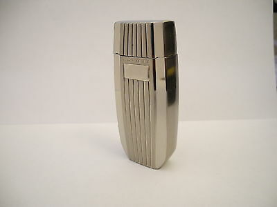 Colibri Extravagance Torch Flame Polished & Brushed Silvertone Lighter  New