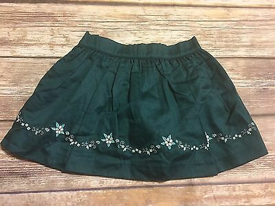 Janie and Jack Art Nouveau Lined Embroidered Hem Skirt Girl's 6-12M