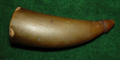 Antique 18th or Early 19th Century Flintlock Priming Powder Horn