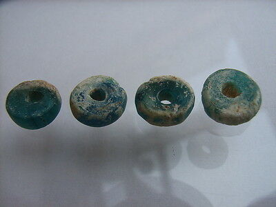 4 Ancient Egyptian Glass Beads, Egypt VERY RARE!