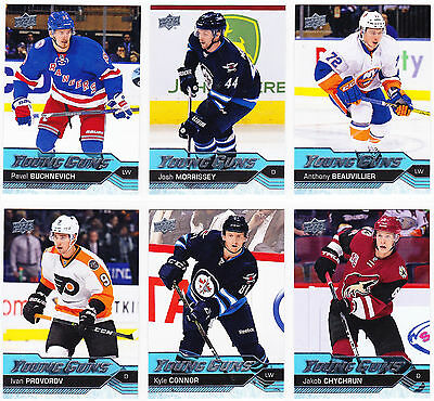 2016-17 Upper Deck Series 1 YOUNG GUNS Lot of 26 Cards SEE LIST Provorov Connor