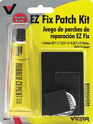 8pc Victor EZ Fix Patch Kit For All Rubber Repairs Tire Wheel Bike Car Auto NEW!