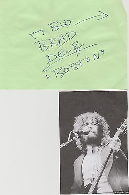 Brad Delp signed album page!  BOSTON Singer!  RIP!