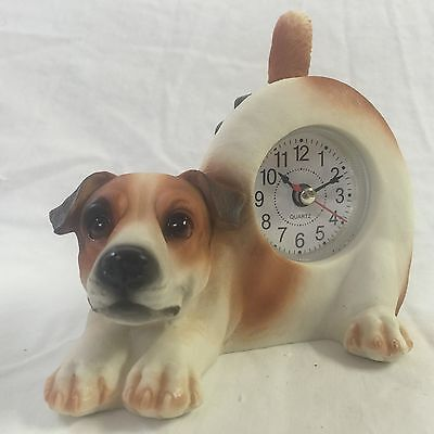 BACK TO SCHOOL Critter Clock Jack Russell Terrier Wagging Tail Puppy Dog