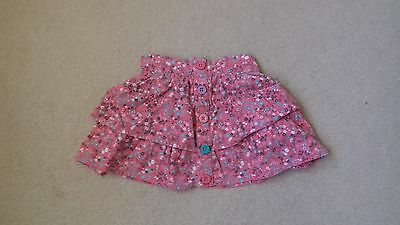 Baby Girls Pink Print Pull up Skirt Age 1/1.5 Years 12-18 Months