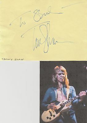 Tommy Shaw signed album page!  STYX!