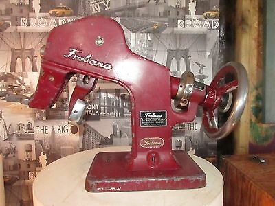 """An interseting vintage """"frobana"""" industrial cobblers shoe stretching machine"""