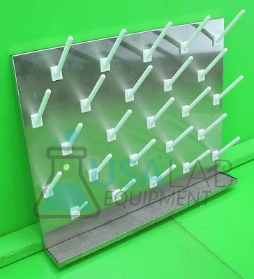 Inter Dyne Systems Stainless Steel Lab Pegboard Drying Rack 30x24