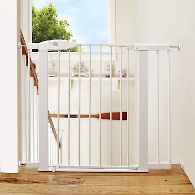 Steel Extension For Safety Gate Baby Door Child Toddler Pet Lock Metal Easy Clos