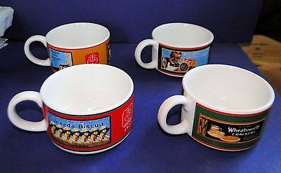 Set of 4 NABISCO SOUP MUGS with Vintage Advertising Art
