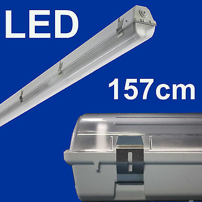 LED Set Feuchtraumleuchte Feuchtraumlampe mit LED Röhre 24W 150 cm IP65 T8
