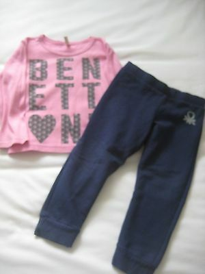 Benetton Baby Girls 2Pce Outfit Size 12-18 Months Top And Trousers
