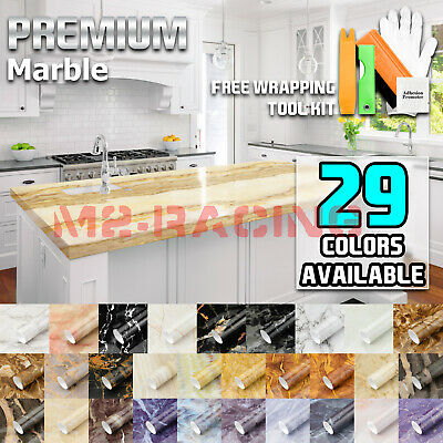 *Gloss / Matte Marble Granite Style Vinyl Wrap Self Adhesive Counter Top Home