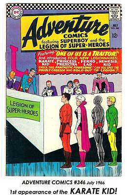 ADVENTURE COMICS # 346 Vivid VG 1st appear KARATE KID! (Legion Hero) $24= CHEAP!