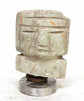 Pre columbian , Mexico,aztec, mayan, Teotihuacan carved Hard Stone Figure 2.5''